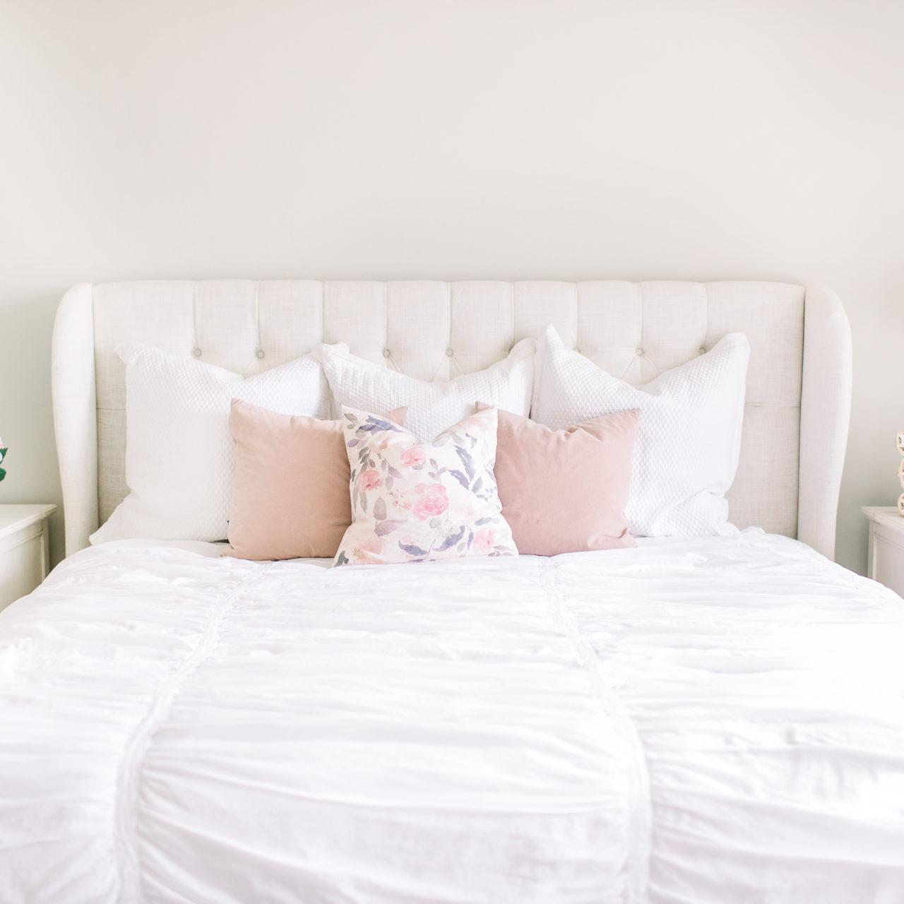 Master bedroom refresh for Spring