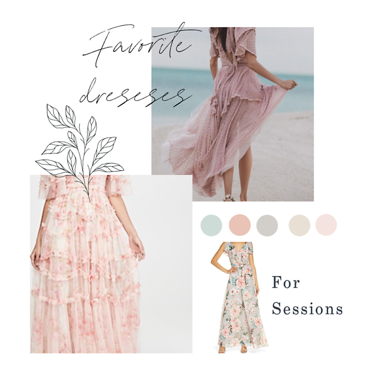 Spring and Summer dresses for photography sessions