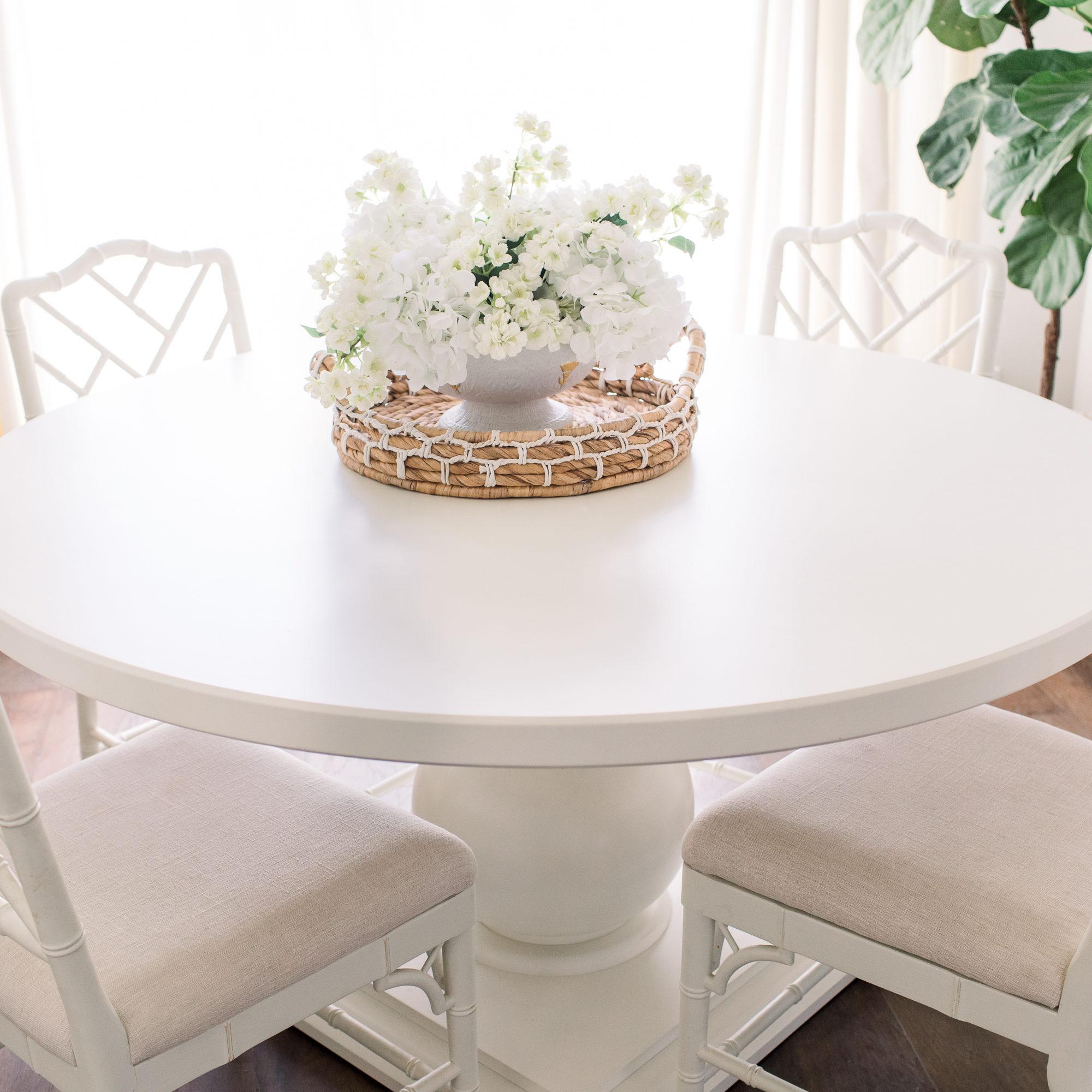 Coastal inspired dining room