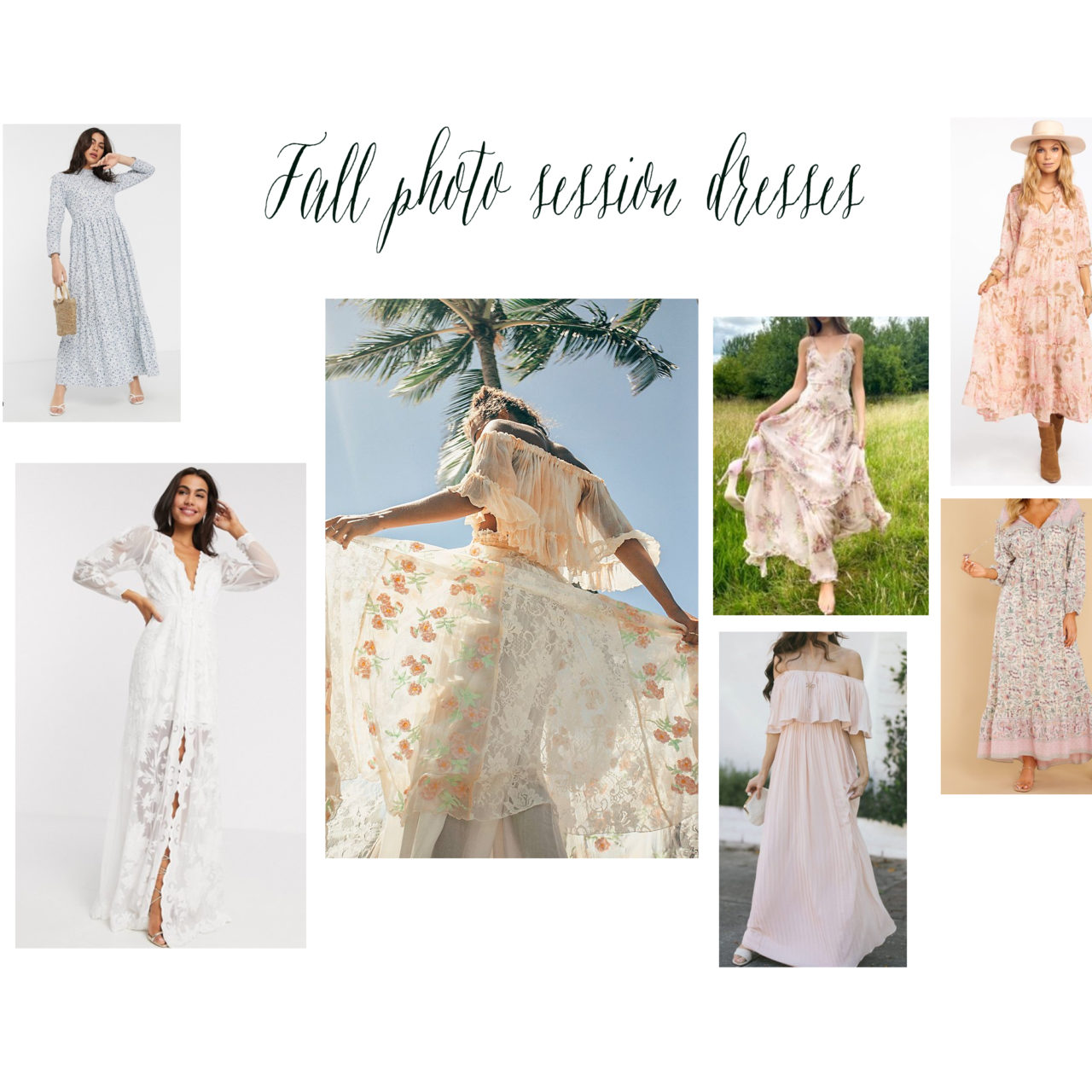 Fall photography session dresses