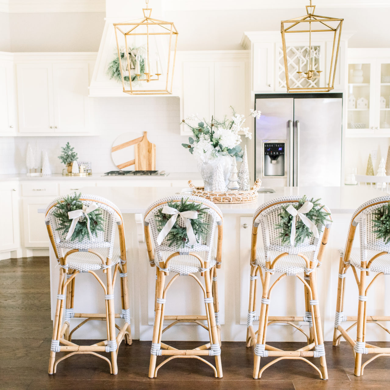 Bright and airy Christmas kitchen